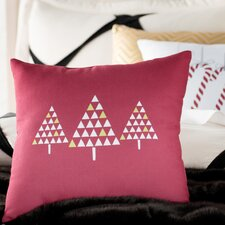 Christmas Trees Outdoor Throw Pillow