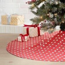 Ikat Dot Round Hemmed Tree Skirt