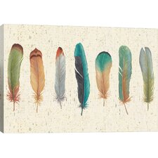 Feather Tales Graphic Art on Wrapped Canvas
