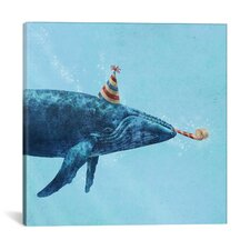 Party Whale Graphic Art on Wrapped Canvas