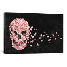 A Beautiful Death Graphic Art on Wrapped Canvas