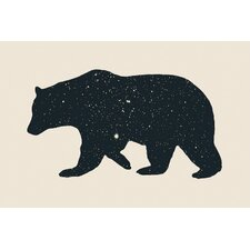 Bear Graphic Art on Wrapped Canvas