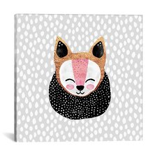 Little Arctic Fox Graphic Art on Canvas