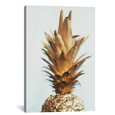 the Gold Pineapple Graphic Art on Canvas