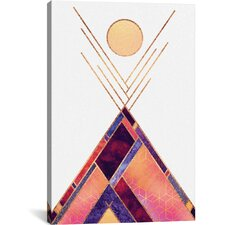 Tipi Mountain Graphic Art on Wrapped Canvas