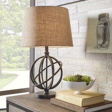 """Oliver Metal Orbit Globe 26"""" H Table Lamp with Empire Shade"""