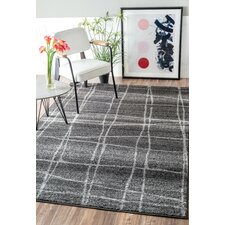 Zuri Chalkboard Checkers Gray Area Rug
