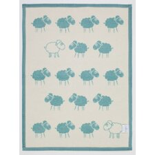 Counting Sheep Mini Reversible Cotton Throw Blanket