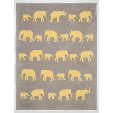 Elephant Cotton Blend Blanket