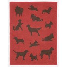 Bow Wow Dogs Mini Reversible Cotton Throw Blanket