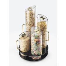 5 Piece Round Cereal Dispenser Set