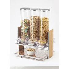 Eco-modern 91 Oz. Triple Canister Cereal Dispenser