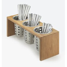 3 Compartment Utensil/Condiment Stand