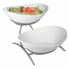 2 Oval Bowl Display Stand