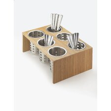 6 Compartment Utensil/Condiment Stand