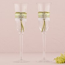 Celtic Charm Wedding Toasting Flute Glass (Set of 2)