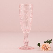 Vintage Inspired Pressed Glass Flute