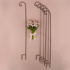 Decorating Metal Shepherd Hooks in White Wall Decor (Set of 6)
