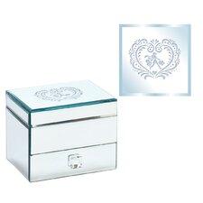 Square 1 Drawer Shopping Girl Design Jewelry Box
