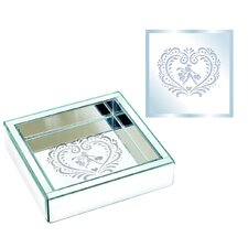Square Shopping Girl Design Jewelry Tray
