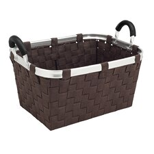 Woven Strap Tote with Aluminum Handles