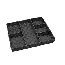 6 Compartment Woven Strap Drawer Organizer
