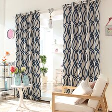 Wave Room Grommet Top Room-Darkening Curtain Panel (Set of 2)