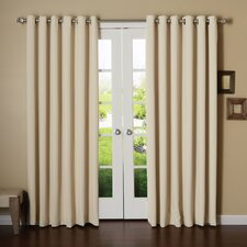 Extra Wide Width Thermal Blackout Single Curtain Panel