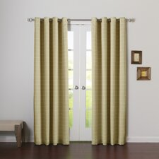 Modern Plaid Room Darkening Curtain Panels (Set of 2)