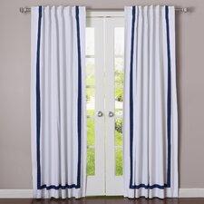 Grosgrain Ribbon Blackout Curtain Panel (Set of 2)