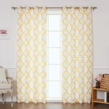 Oxford Basketweave Curtain Panels (Set of 2)