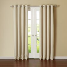 Silver Grommet Top Thermal Insulated Blackout Curtain Panel (Set of 2)