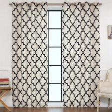Moroccan Tile Curtain Panels (Set of 2)