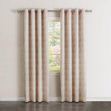 Scandinavian Room Darkening Curtain Panels (Set of 2)