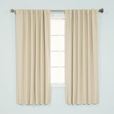 Basic Thermal Insulated Blackout Curtain Panel (Set of 2)