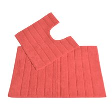 2 Piece Bath and Pedestal Mat Set