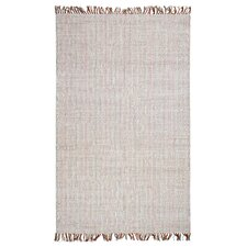 Boho West Hand-Woven White Area Rug