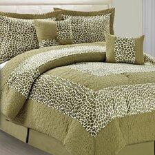 Safari Green Giraffe 6 Piece Comforter Set