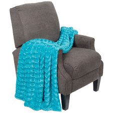 Saga Double Sided Faux Fur Throw Blanket
