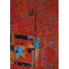 Legends Hand-Tufted Red Area Rug