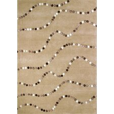 Boardwalk Latte Dots Area Rug