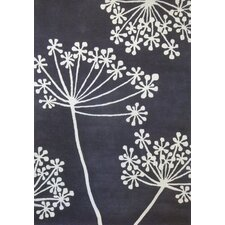 Boardwalk Hand-Tufted Pewter / White Area Rug