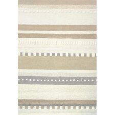 Boardwalk Hand-tufted Tan/Ivory Area Rug