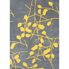 Festival Grey/Canary Yellow Area Rug