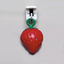4-tlg. 3 cm Tischtuchklammer-Set Erdbeere