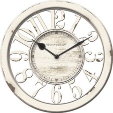 "10"" Antique Contour Wall Clock"