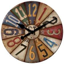 "15.5"" Vintage Plates Wall Clock"