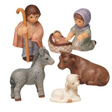 6 Piece Nativity Midi Decorative Figure Set