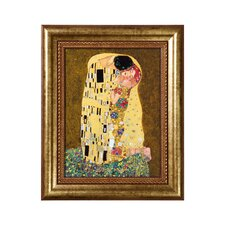 Porzellanbild Der Kuss von Gustav Klimt - 34 x 28 cm