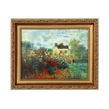 Porzellanbild Künstlerhaus von Claude Monet - 27 x 33 cm